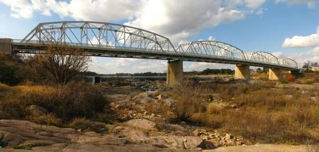 Hiway 71 Bridge over Llano River II - panorama