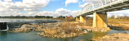 Bridge Over Llano River Panorama