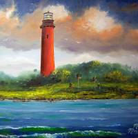 """Jupiter Florida Lighthouse Painting"" by mazz"