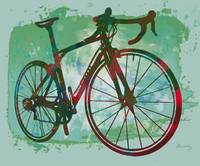 Bicycle pop stylised paper cut art poster
