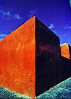 Orange Wall, Blue Sky