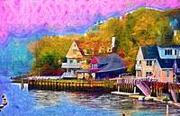 Fishing Village by Kirt Tisdale