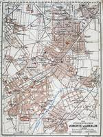 Vintage Map of The Berlin Germany Suburbs (1914)