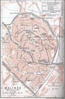 Vintage Map of Mechelen Belgium (1905)