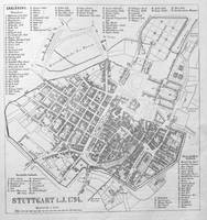 Vintage Map of Stuttgart Germany (1794)