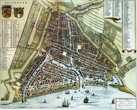 Vintage Map of Rotterdam Netherlands (1649)