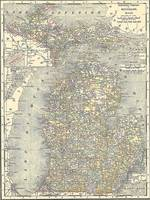 Vintage Map of Michigan (1901)