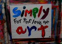 simply for the love of art