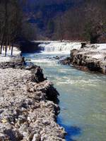 Lower Taughannock Falls in Spring Thaw