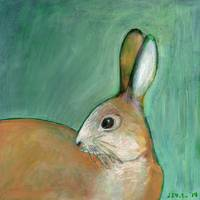 Portrait of a Nut Brown Hare