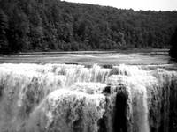 Waterfall on River Black & White