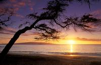 Hawaii, Maui, Palauea Beach Sunset With Hawaiian I