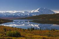 Scenic view of Mt. McKinley from Wonder Lake Denal