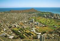 Hawaii, Oahu, Aerial View Of Neighborhoods