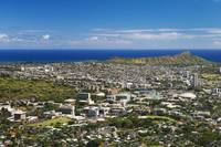 Hawaii, Oahu, Honolulu, Diamond Head And Uh Manoa