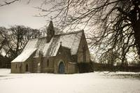 Country Church In The Snow, Ford, Northumberland,