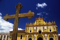 Cross Outside San Cristobal De Las Casas Cathedral