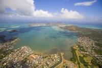Hawaii, Oahu, Windward Coast, Aerial Of Kaneohe Ba