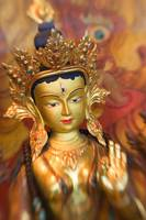Asian Art, Close-Up Of Golden Sculpture