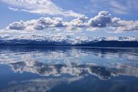 Scenic View Of The Chilkat Mountains Reflecting In
