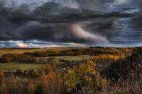 Storm Clouds Over The Sturgeon River Valley In Aut