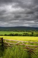 Dark Clouds Over Fields, England