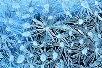 Close Up Of Frost Crystals With Cyan Lighting Cal