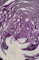Cross Section Of A Red Cabbage