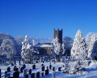 Bushmills Church And Cemetery In Winter, County An