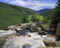 River Flowing Through Valley, Glenmacnass, County