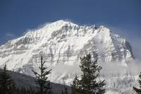 Snow-Covered Mount Temple Lake Louise, Alberta, C