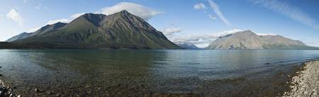Kathleen Lake with Kings Throne mountain in Kluane