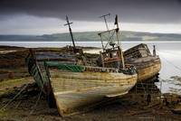 Three Boats On Shore, Scotland