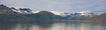 Hanging glaciers and Chugach Mountiains in Port We
