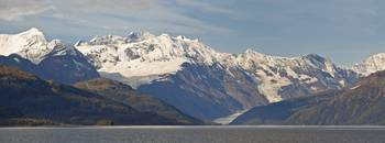 Ice fields and glacier in Chugach Mountiains in Pr