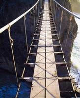 Close-Up Of A National Trust Rope Bridge, Carrick-