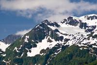 Scenic view of the mountains above Port Valdez, Su