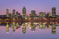 Skyline At Twilight, Montreal, Quebec, Canada