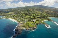 Hawaii, Maui, Aerial Of Kapalua Resort Along The O