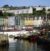 Fishing Boats Moored At A Harbor, Cobh, County Cor