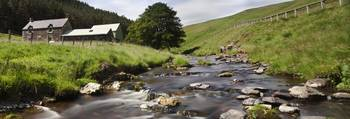 A Creek Running Past Houses Cheviot Hills, Northu