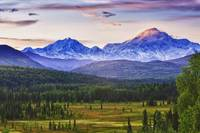 Scenic View Of Mt. Mckinley And Mt. Hunter, Alaska