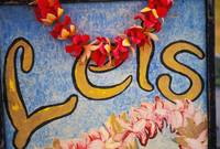 Hawaii, Big Island, Hilo, Lei And Flower Stand Sig