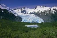 View of Portage Glacier from Portage Pass SC Alask