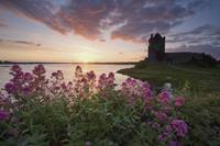 Sunset Over Dunguaire Castle, Kinvara, County Galw