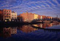 River Liffey And Halfpenny, Bridge, Dublin, Irelan