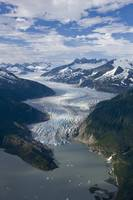 Aerial view of Mendenhall Glacier, Juneau Icefield