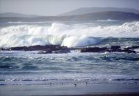 Wave Breaking On Shore, Ballyhiernan Bay, Fanad He