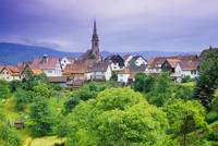 Village Of Rottelsheim, Alsace, France