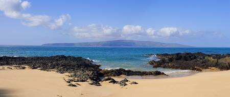 Hawaii, Maui, Wai Beach With Kahoolawe In The Dist